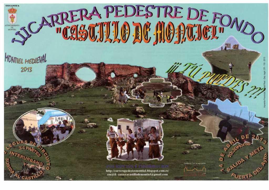 cartel carrera castillo de montiel 2013